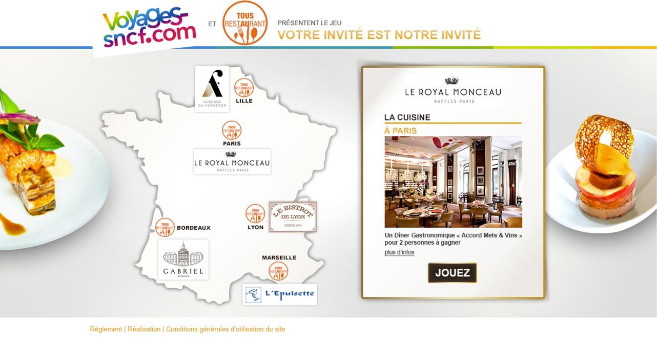 Agence web Avignon - Voyages SNCF et Alain Ducasse - Cartes des restaurants