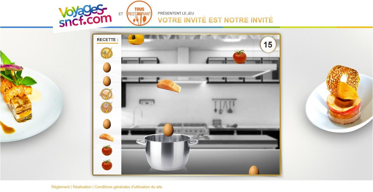 Agence web Avignon - Voyages SNCF et Alain Ducasse - Jeu concours web