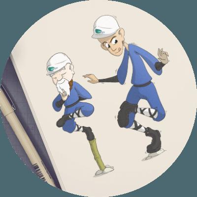 Illustration -avatar - mascotte - personnages - icône - décor