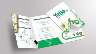 Pochette A4 3 volets pour Yetiq.pro