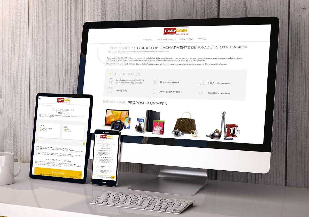 Création du site internet Easy Cash